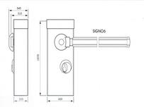 Габаритные размеры автоматического шлагбаума SIGNO: длина стрелы 3000 и 4000 мм