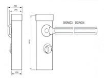 Габаритные размеры автоматического шлагбаума SIGNO: длина стрелы 6000 мм