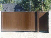 Фотография откатных ворот