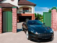Алюминиевые откатные ворота и калитка