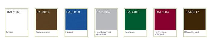 Цветовая гамма алюминиевого профиля