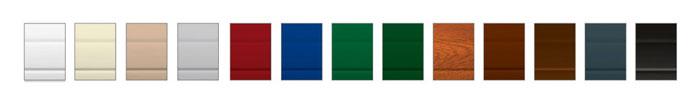Цветовая гамма роллетного профиля AG77