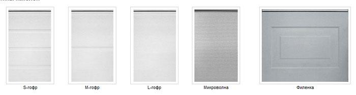 Варианты панелей для алюминиевых откатных ворот