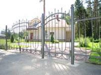 Распашные ворота из прутка