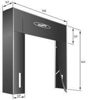 Размеры гереметизатора со складной рамой