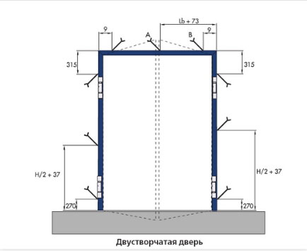 Монтаж двухстворчатой двери