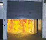 Противопожарные ворота для защиты от дыма и огня.