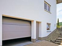 Ворота для гаража с панелями микроволна
