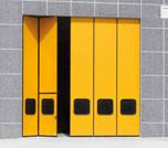 Складные ворота состоят из вертикальных секций, толщиной 50 мм